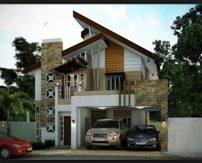 Fasad Rumah Minimalis Dengan Batu Alam