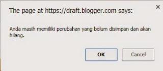 tidak bisa menyimpan perubahan pada template blogger