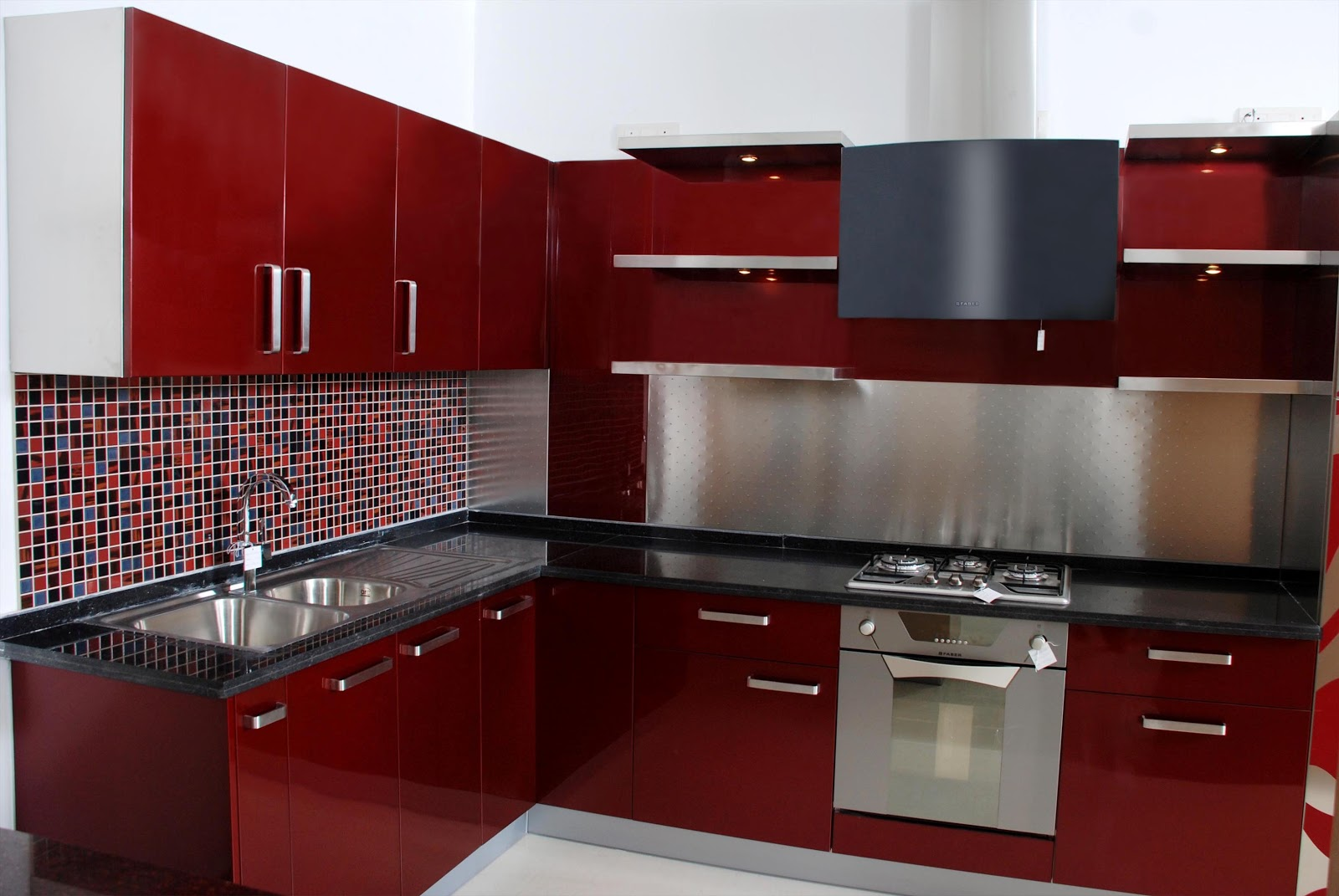 Stainless steel modular kitchen for Modular kitchen cupboard