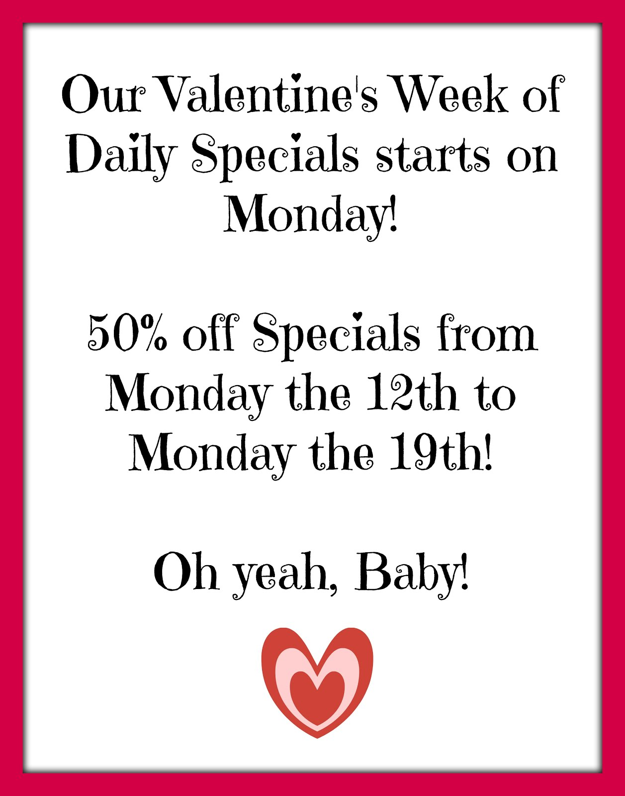 Daily Specials Week!