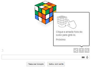 Doodle do Google traz um cubo mágico iterativo