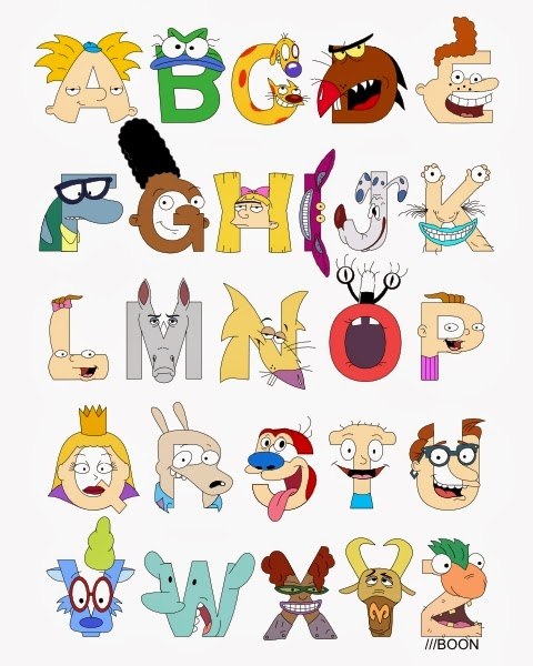 Mike BaBoon Design: Nickelodeon Alphabet