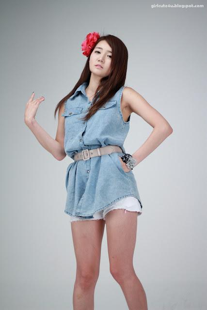 21 Han-Ga-Eun-Denim-Shirt-01-very cute asian girl-girlcute4u.blogspot.com