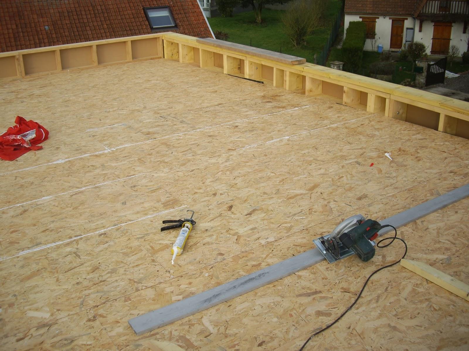 notre auto construction passive maison ossature bois m o b toiture plate epdm maison. Black Bedroom Furniture Sets. Home Design Ideas
