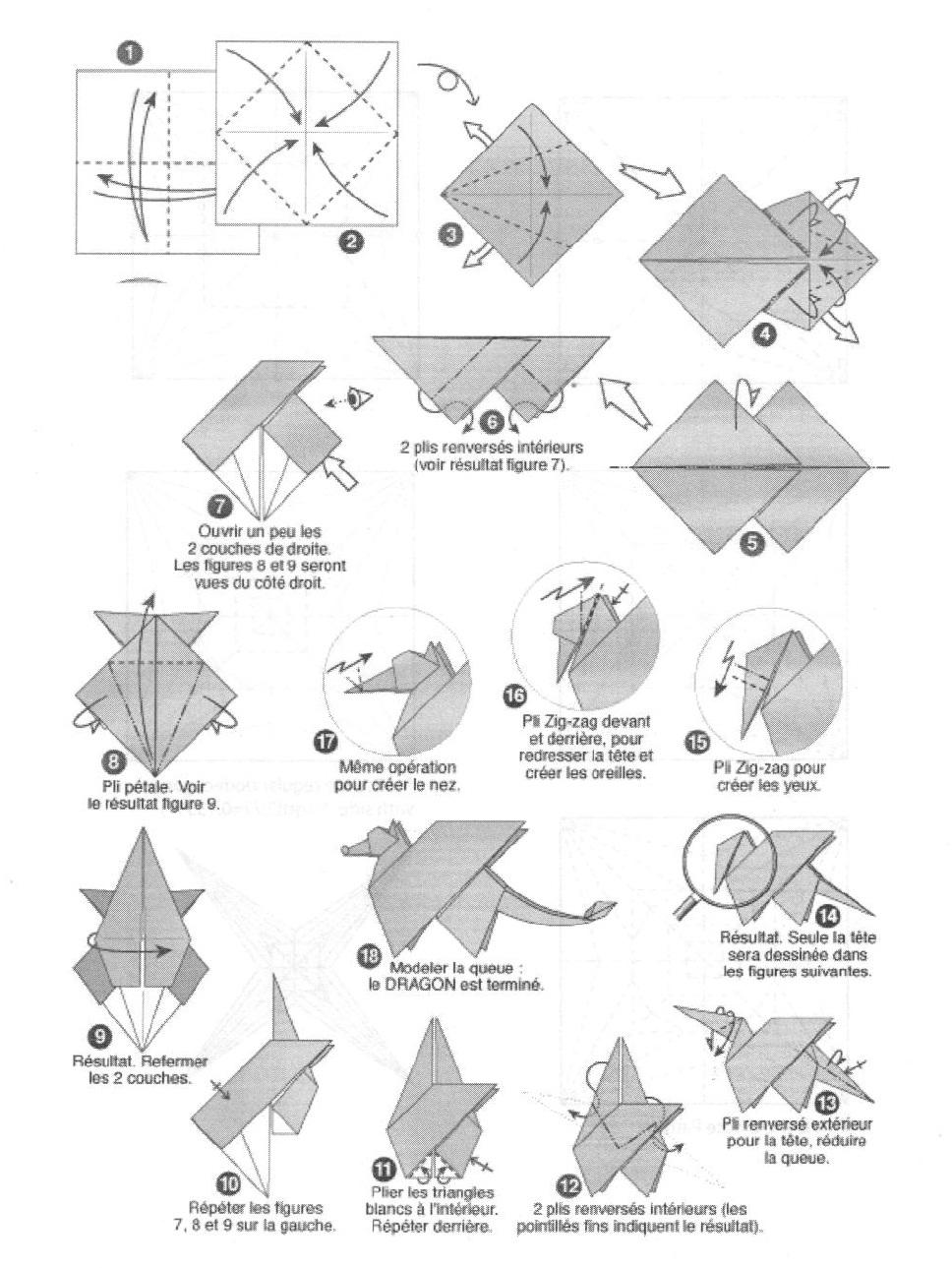 origami dragon instructions advanced pdf
