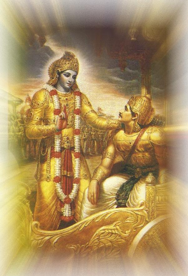 Lord Krishna Telling Geethacharam to Arjuna