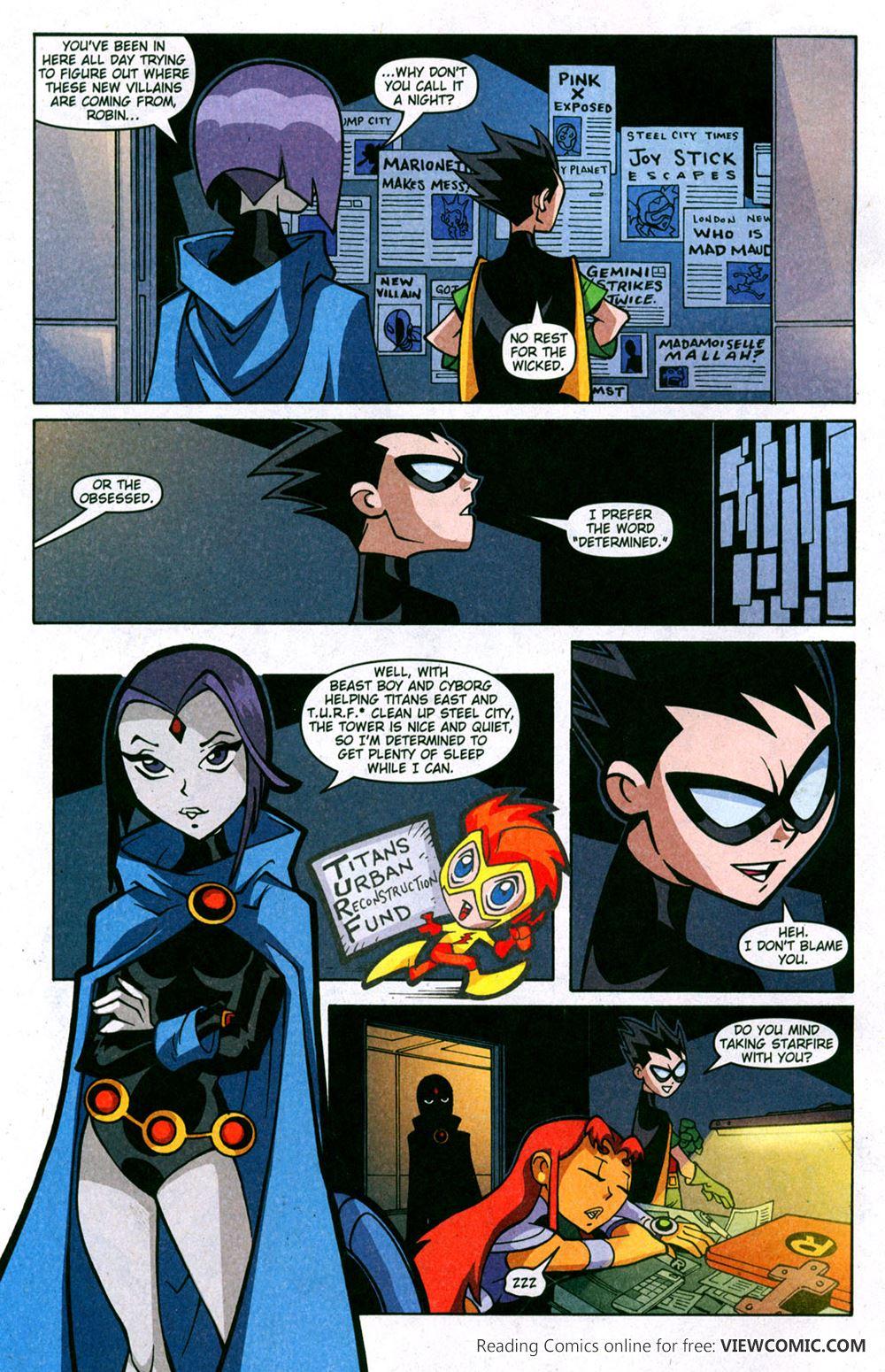 teen titans online comics