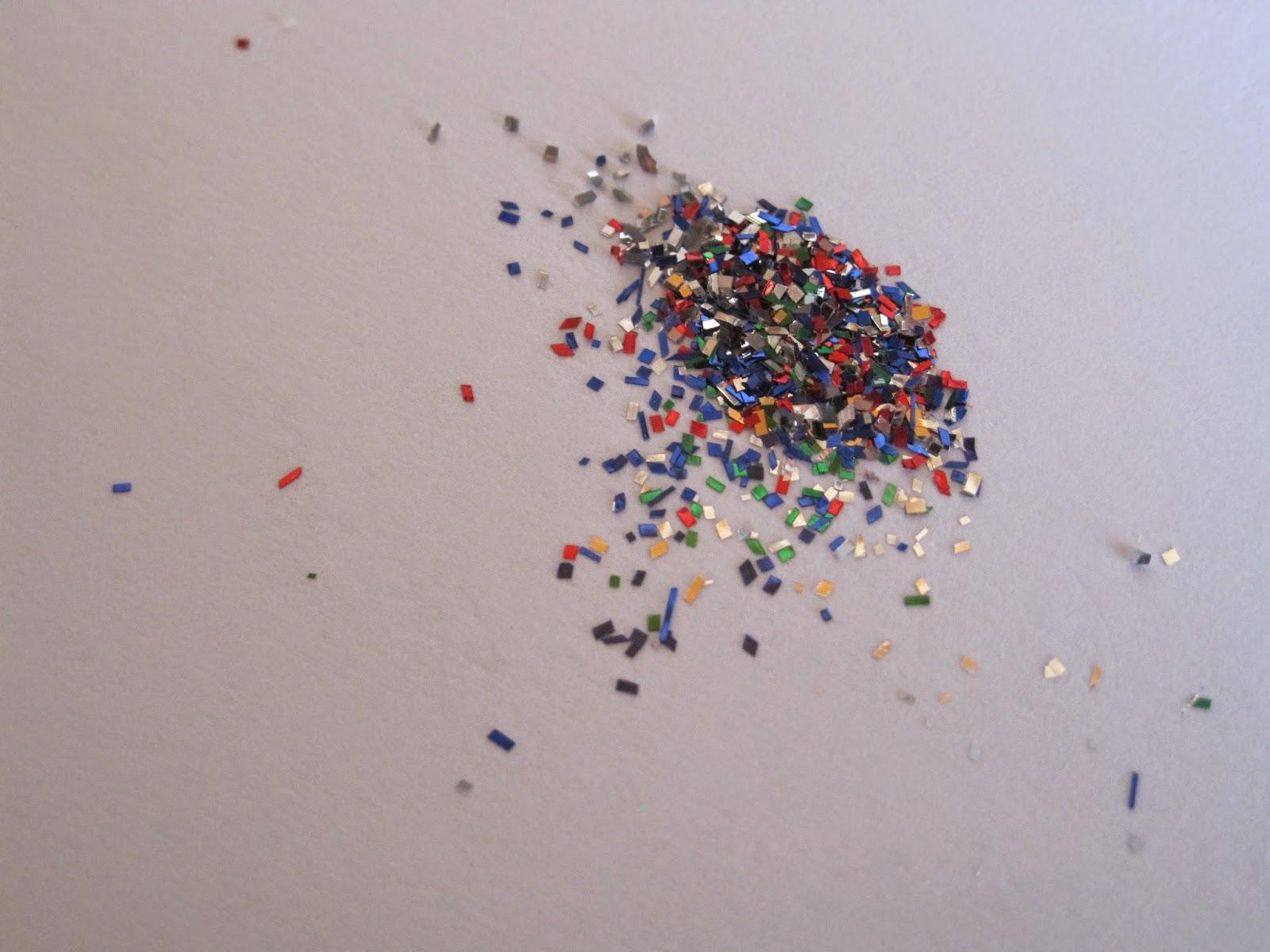 glitter, colours