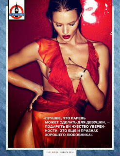 Magazine Photoshoot : Rosie Huntington-Whiteley Photoshot For GQ Magazine Russia January 2014 Issue