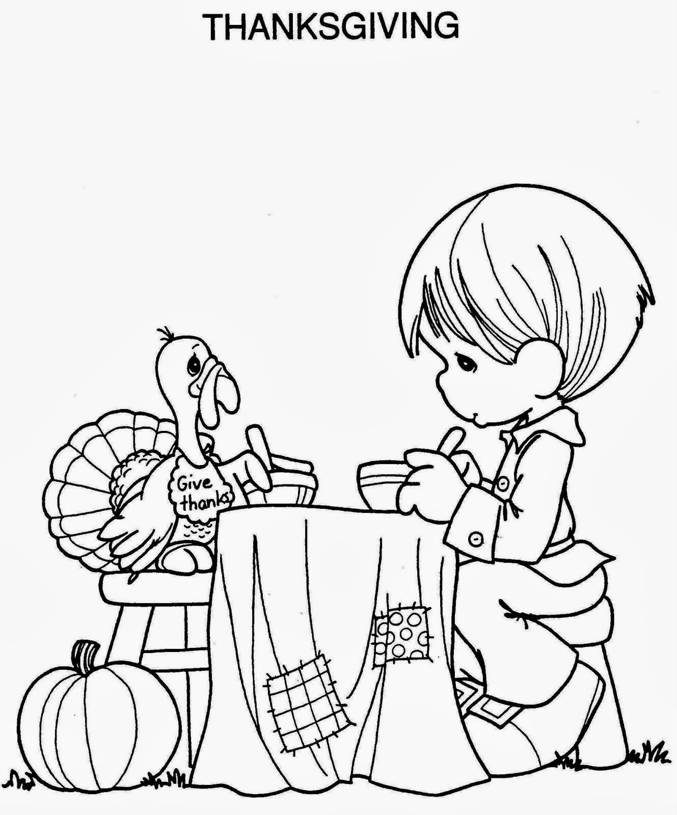 Thanksgiving day for coloring part 1 for Free thanksgiving color pages
