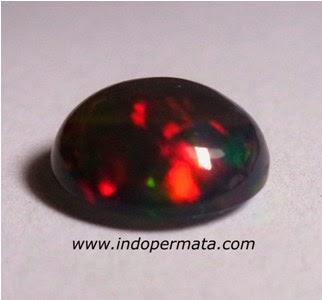 batu permata natural black opal kalimaya-kalimaya banten-batu mulia