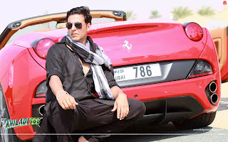 Akshay Kumar Red Ferrari Wallpaper