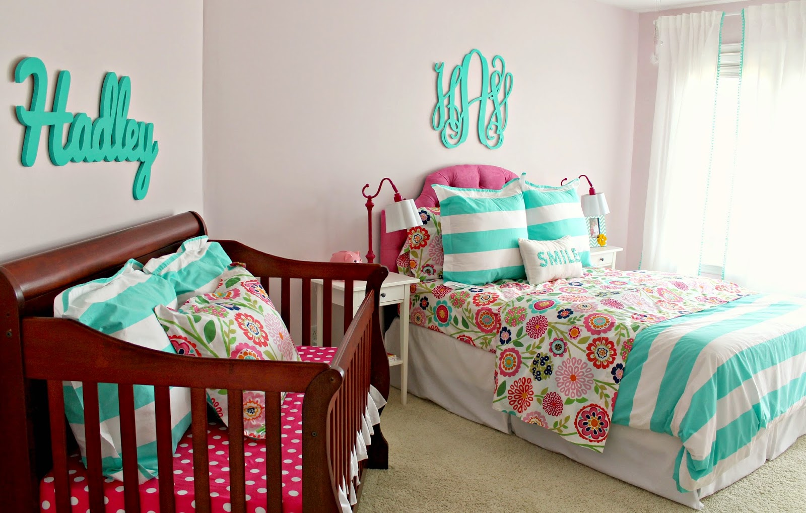 on my mind hadley 39 s nursery big girl bedroom name above crib