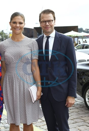Crown Princess Victoria of Sweden and Prince Daniel attends in the afternoon at the World Trade Day and presentation of the Export Hermes Award