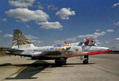 Су 25 пилотажной группы «Небесные Гусары».