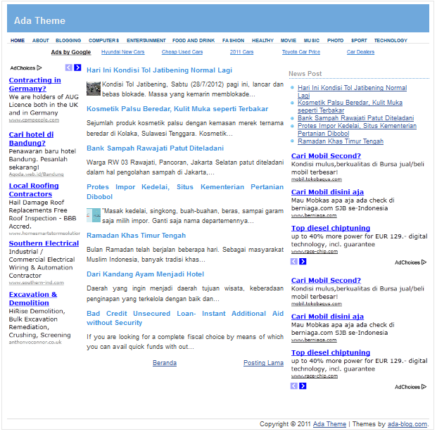 free simple adsense blogspot templates blogger seo template
