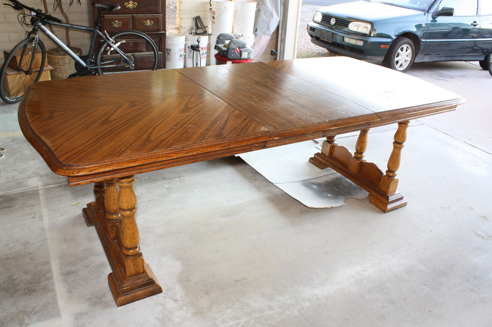 How to refinish wood buffet how to refinish wood dining table how to refinish wood side table - Refinished kitchen tables ...