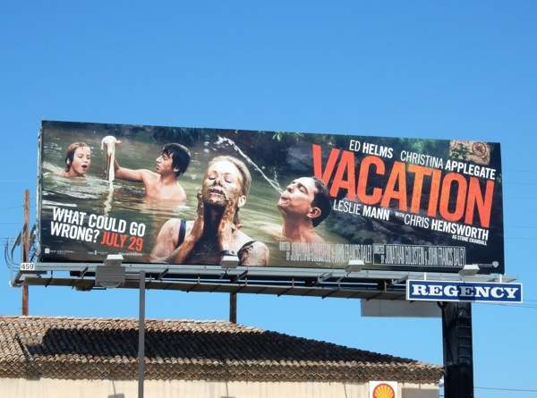 Vacation sewage hot springs billboard