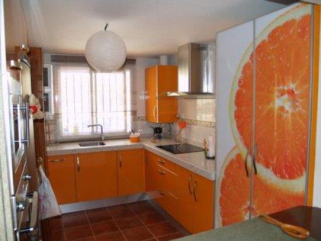 Decora tu cocina de color naranja decoraciones cocinas - Cocina blanca y naranja ...