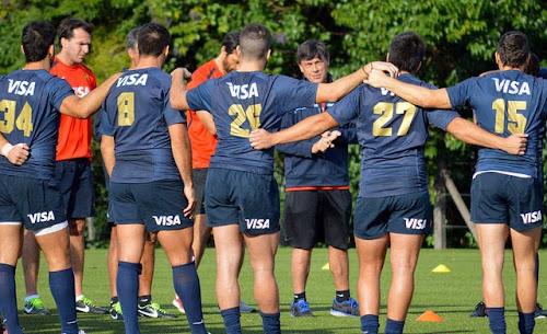 Formación y Captain's Run de Los Pumas