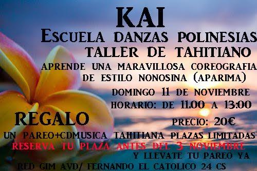 taller de danzas polinesias con kai danzas