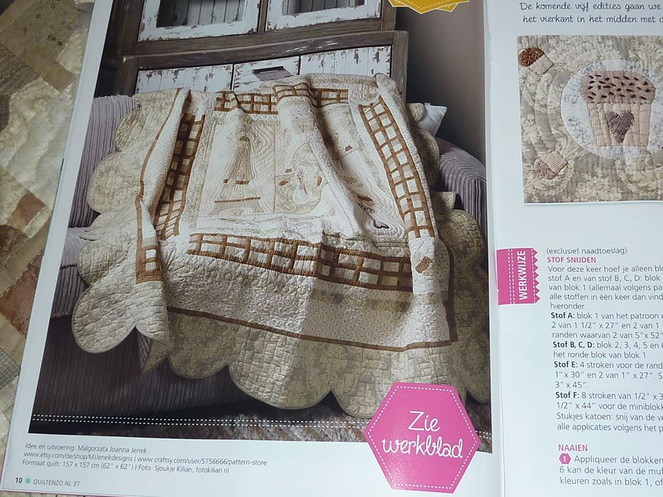 Cupcake Quilt© - published as the BOM in Dutch magazine
