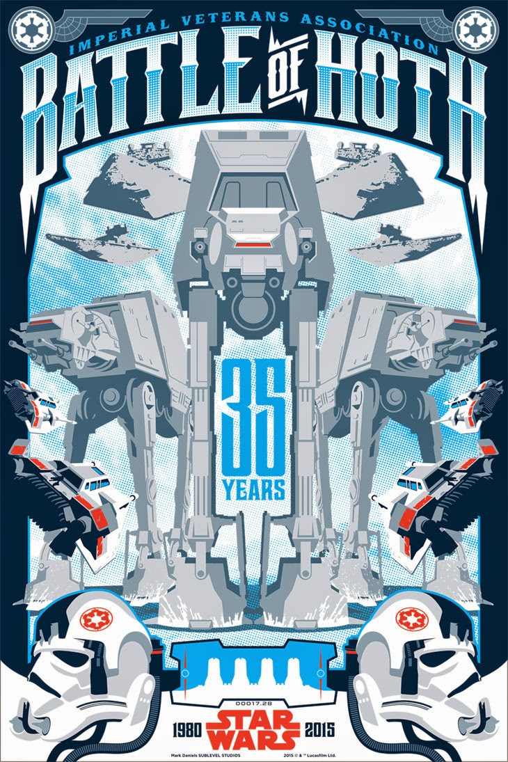 "Star Wars ""Battle of Hoth"" Screen Print by Mark Daniels"