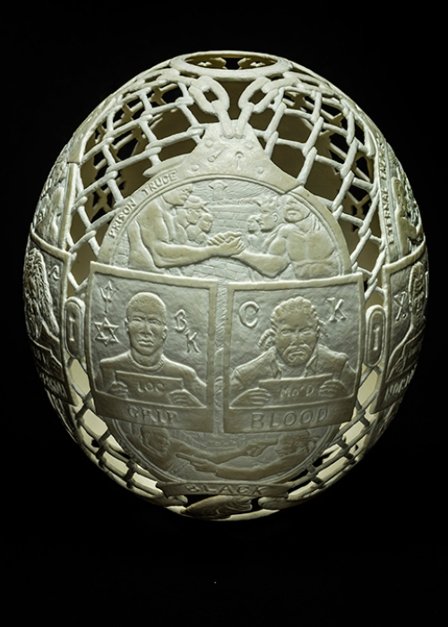 04-Gang-Chart-Gil-Batle-Hatched-in-Prison-Carvings-on-Ostrich-Eggs-www-designstack-co