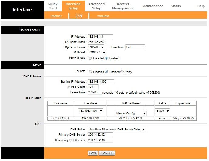 Parámetros de ABA CANTV, Router TP-LINK,TD-W8961ND