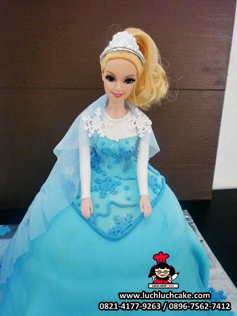 kue tart ulang tahun barbie 3d