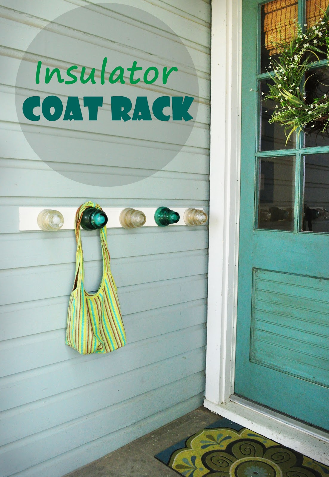Insulator coat rack creatively living blog for Glass insulators crafts