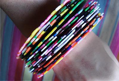 colorful bangle collection