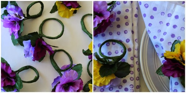 easy diy floral napkin rings
