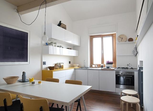 Skandinavisches Design für Einrichten und Wohnen auf kleinstem Raum: Küche