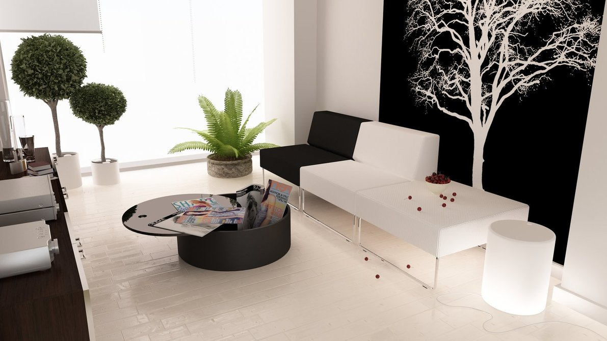Interior decorating black and white - You Can Also Apply Those Two Colors In Every Part Of Your House Even In The Bathroom These Are Some Pictures Of Black And White Interior Decoration For