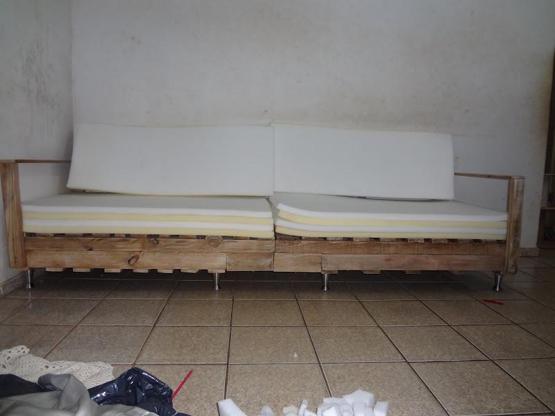 Sof de pallets meus trabalhos manuais - Espumas para sofas ...
