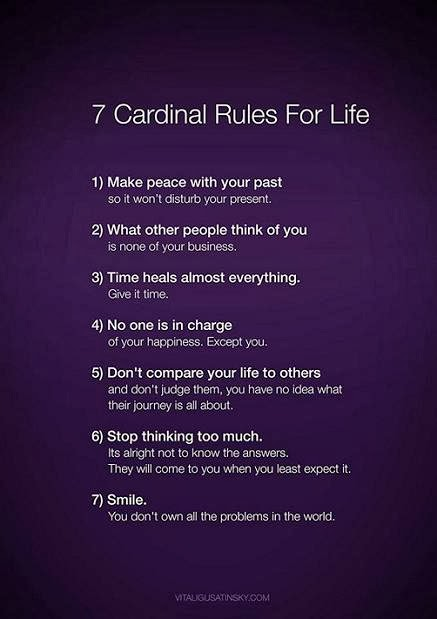7 Rules For Happy Life