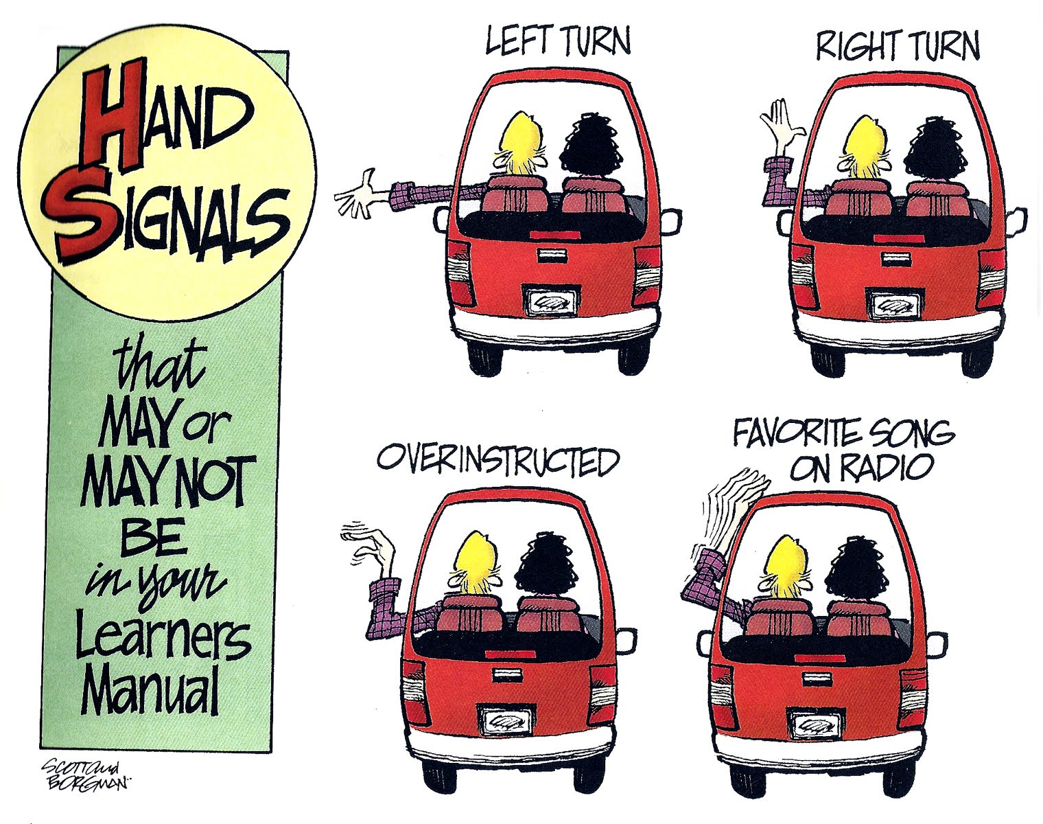 Just A Car Guy Hand Signals That May Or May Not Be In Your - Car signals