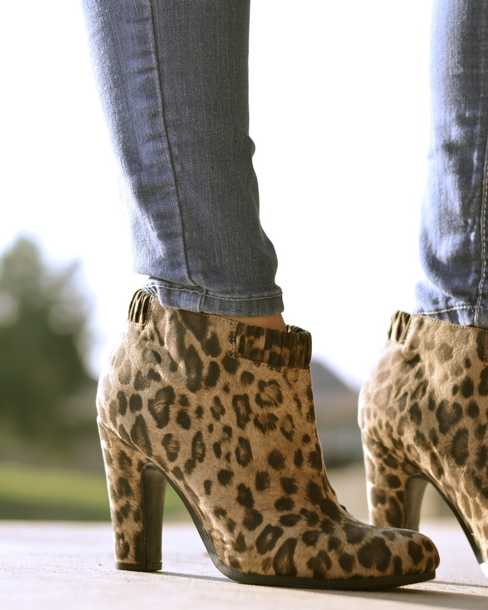 eb68999a43b high heels   high notes  Leopard Ankle Boots