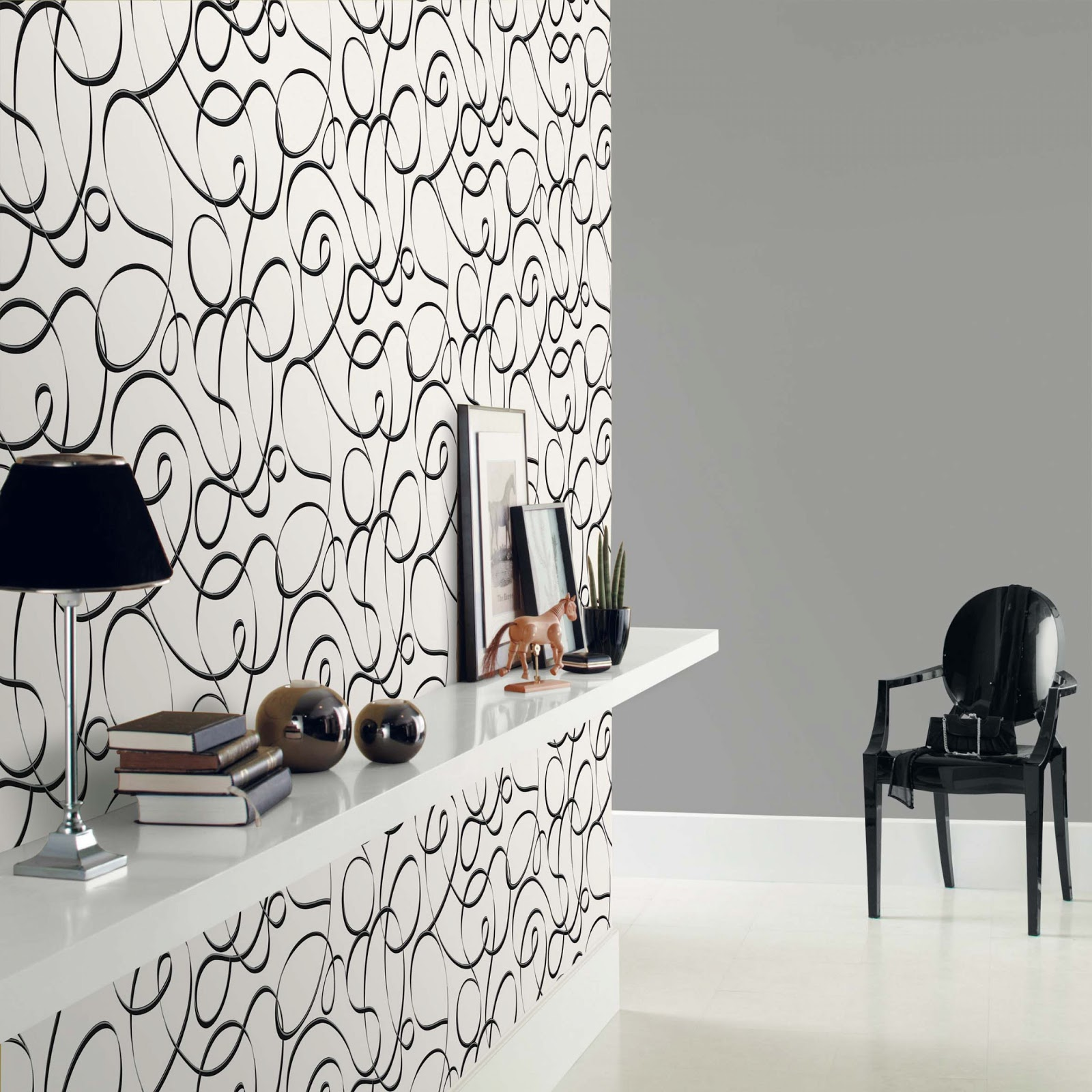 papel pintado black u white