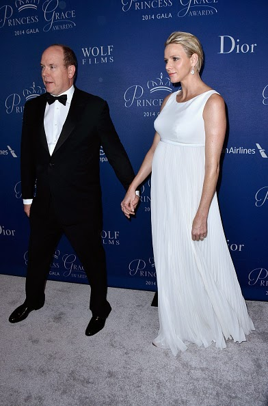 Prince Albert II of Monaco (L) and Princess Charlene of Monaco attend the 2014 Princess Grace Awards Gala at Regent Beverly Wilshire Hotel on 08.10.2014 in Beverly Hills, California.