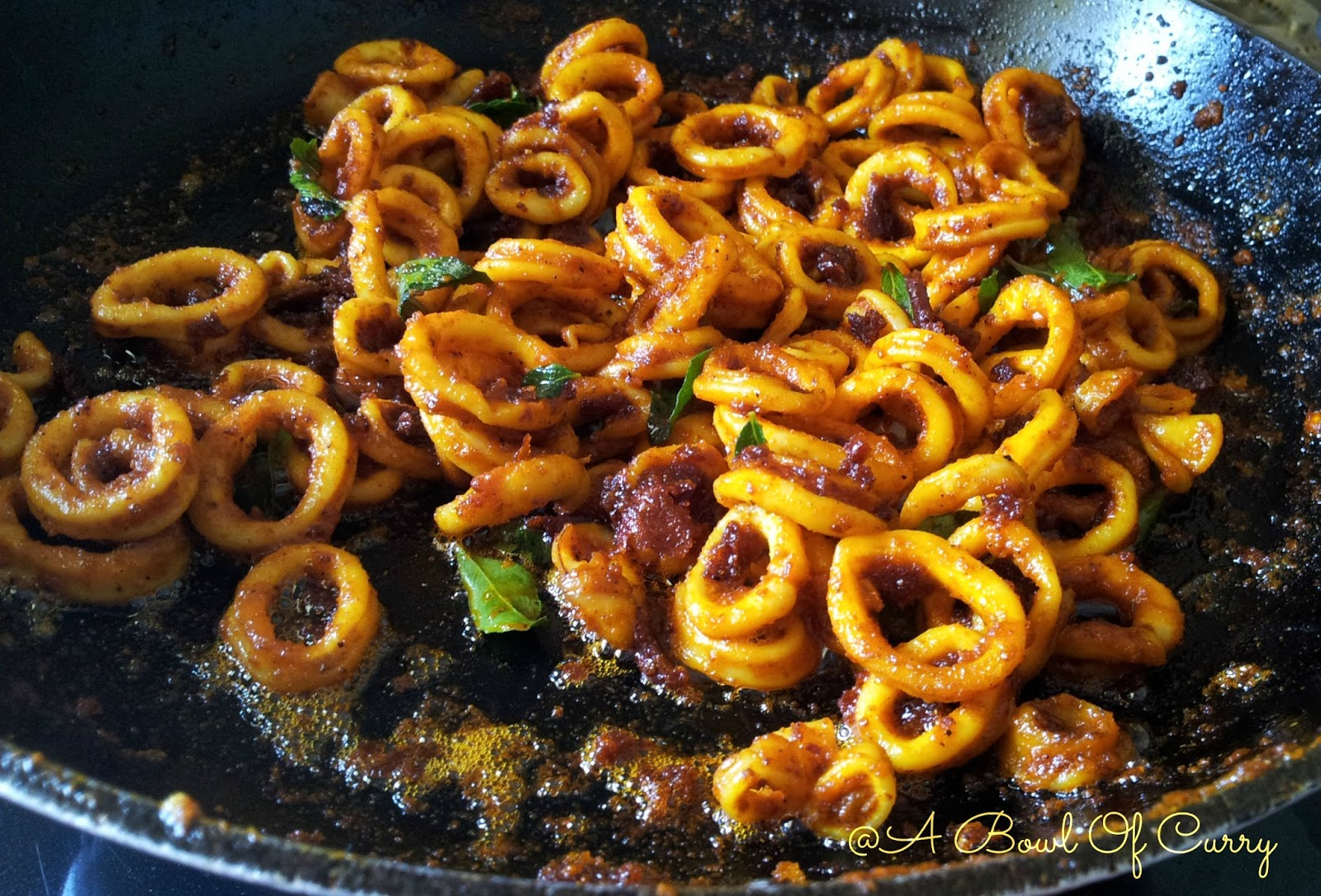A Bowl Of Curry: Spicy Squid Masala Fry
