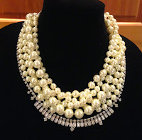 Necklace of the Month-September is Erin D. necklace in pearl with vintage rhinestones.