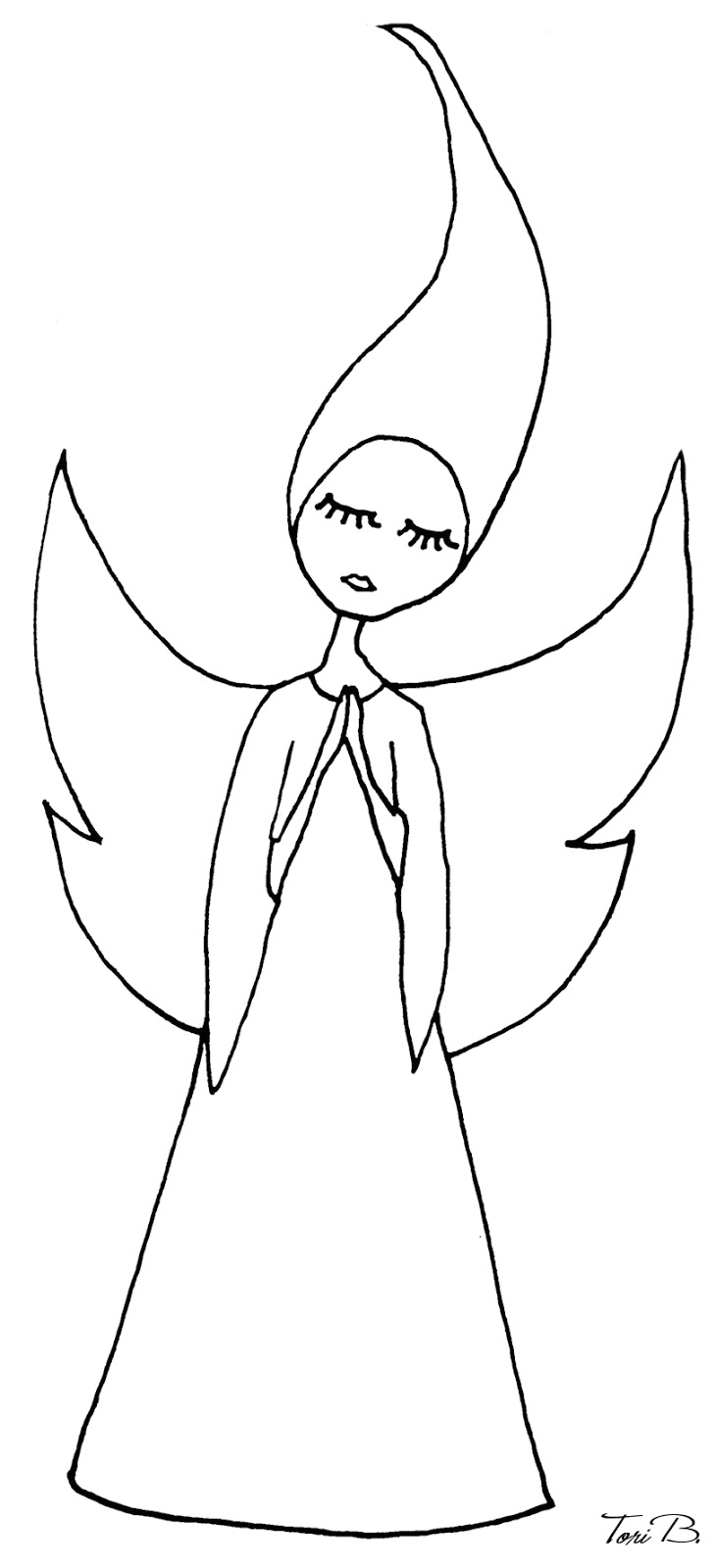 Easy Angel Drawings Step By Step I kept her simple, so that you