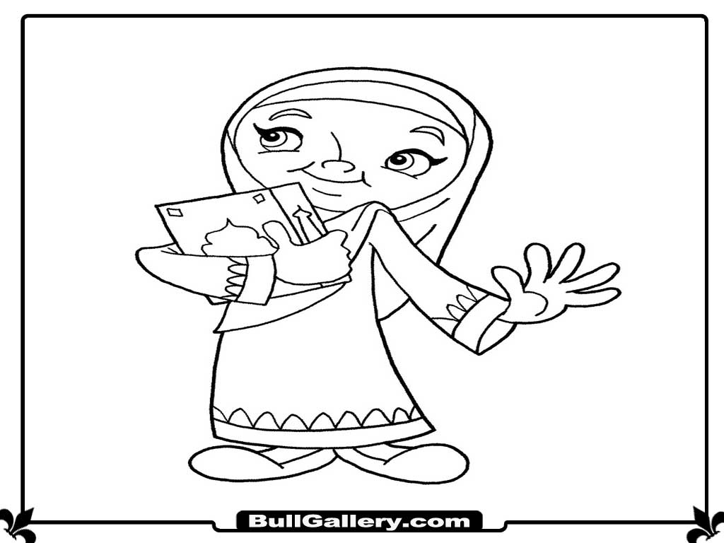 ana muslim coloring pages - photo#22
