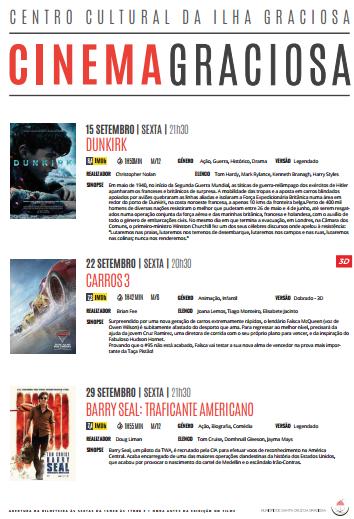 Cartaz Cinema Setembro 2017