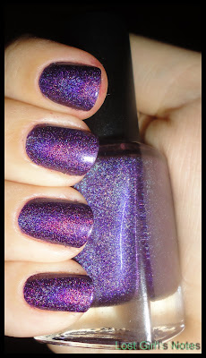 wild at heart color club review holographic nail polish