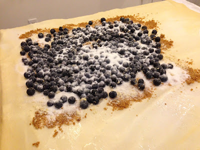 German Blueberry Strudel