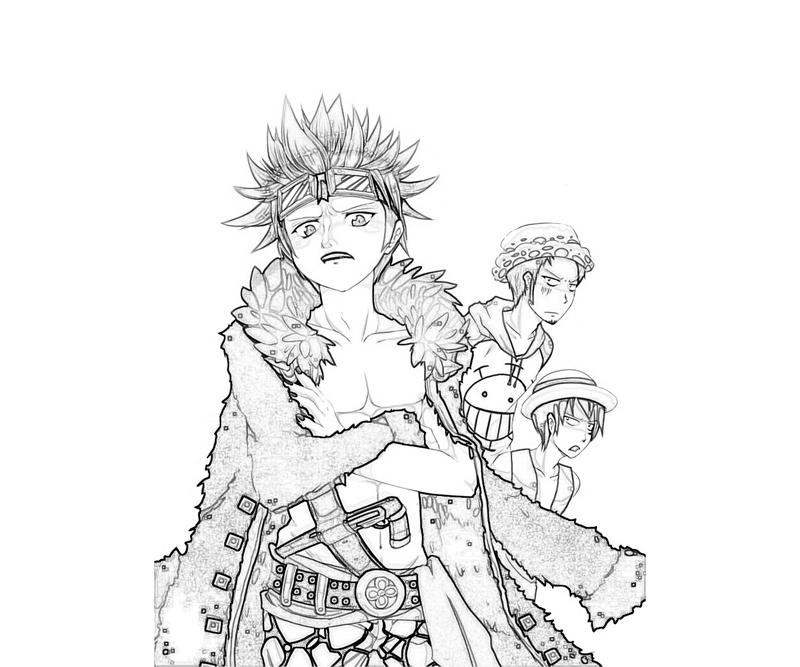 Eustass Captain Kid Funny Coloring Pages