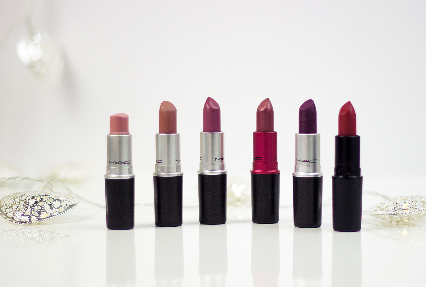 Must-have MAC Lipsticks, MAC Creme Cup, MAC Velvet Teddy, MAC Plumful, MAC Viva Glam IV, MAC Rebel, MAC Ruby Woo